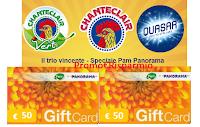 Logo Pam Panorama ''Il trio vincente'': vinci 100 Gift Card da 50€ con Quasar, Chanteclair e ChanteclairVert