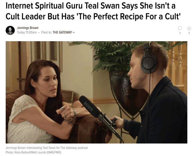 Internet Spiritual Guru Teal Swan Says She Isn't a Cult Leader But Has 'The Perfect Recipe For a Cult'