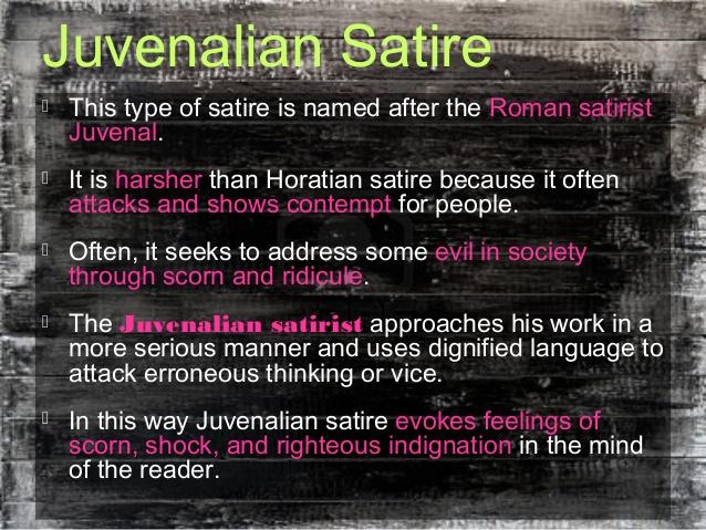 English Literature Describe The Types Of Satire