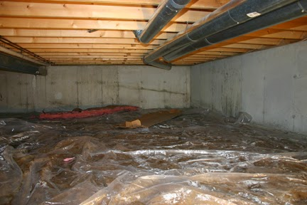 Crawl Space Before Insulation - Delmarva Spray Foam