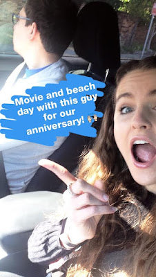 Movie and Beach Day for our Anniversary
