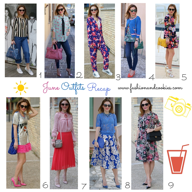 Welcome July, June 2016 fashion blogger outfits recap on Fashion and Cookies fashion blog, fashion blogger style