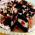 Tort cu ciocolata si piersici