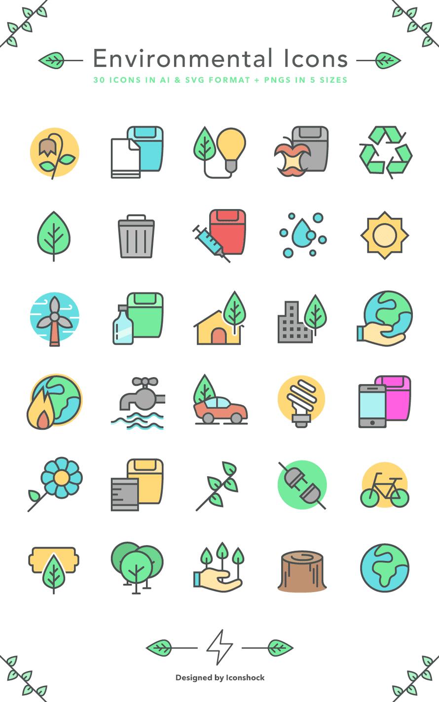 30 Free Environmental Icons
