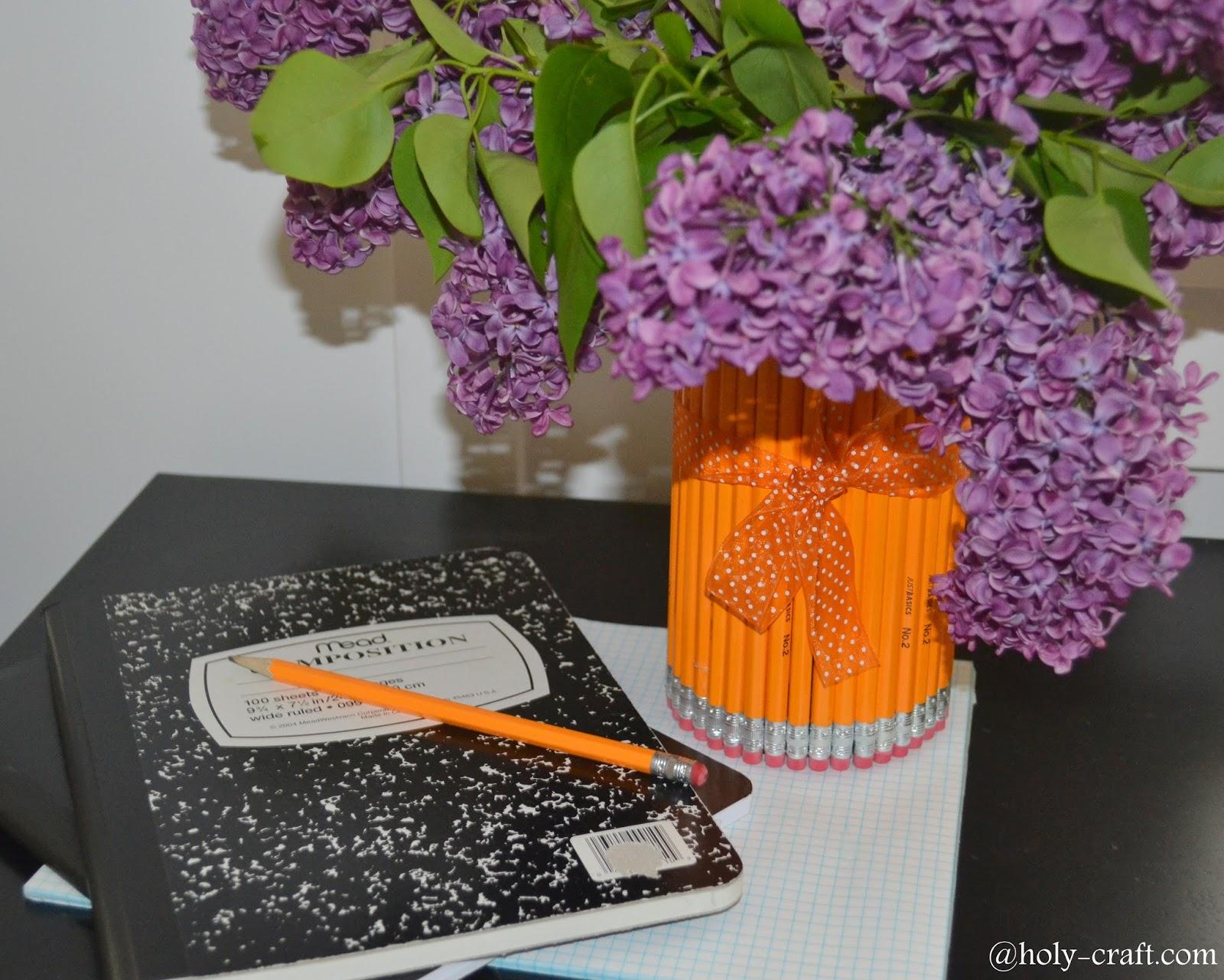 Easy to make pencil vase