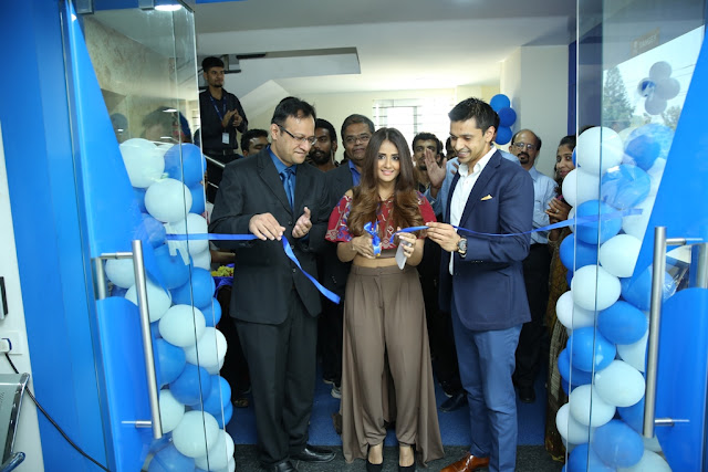 Ms. Parul Yadav along with Dr. Adil Agarwal- CEO, Dr. Agarwal's Group of Eye Hospital inaugurating the new Dr. Agarwal's Eye Hospital at Whitefield.