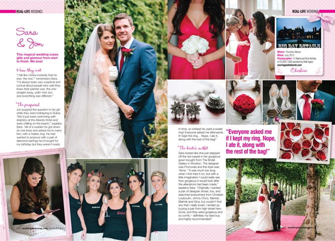 STUDIO 1208 featured in Wedding Ideas Magazine August 2013