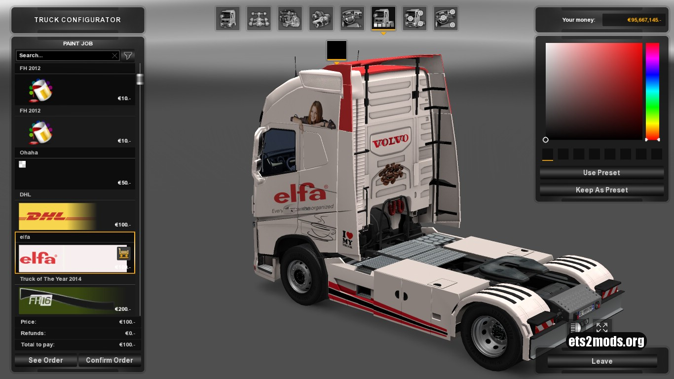 Elfa Skin for Volvo 2013
