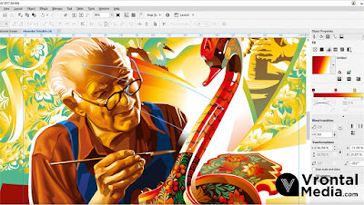 Tampilan Software Corel Draw X7 - macam macam software desain grafis
