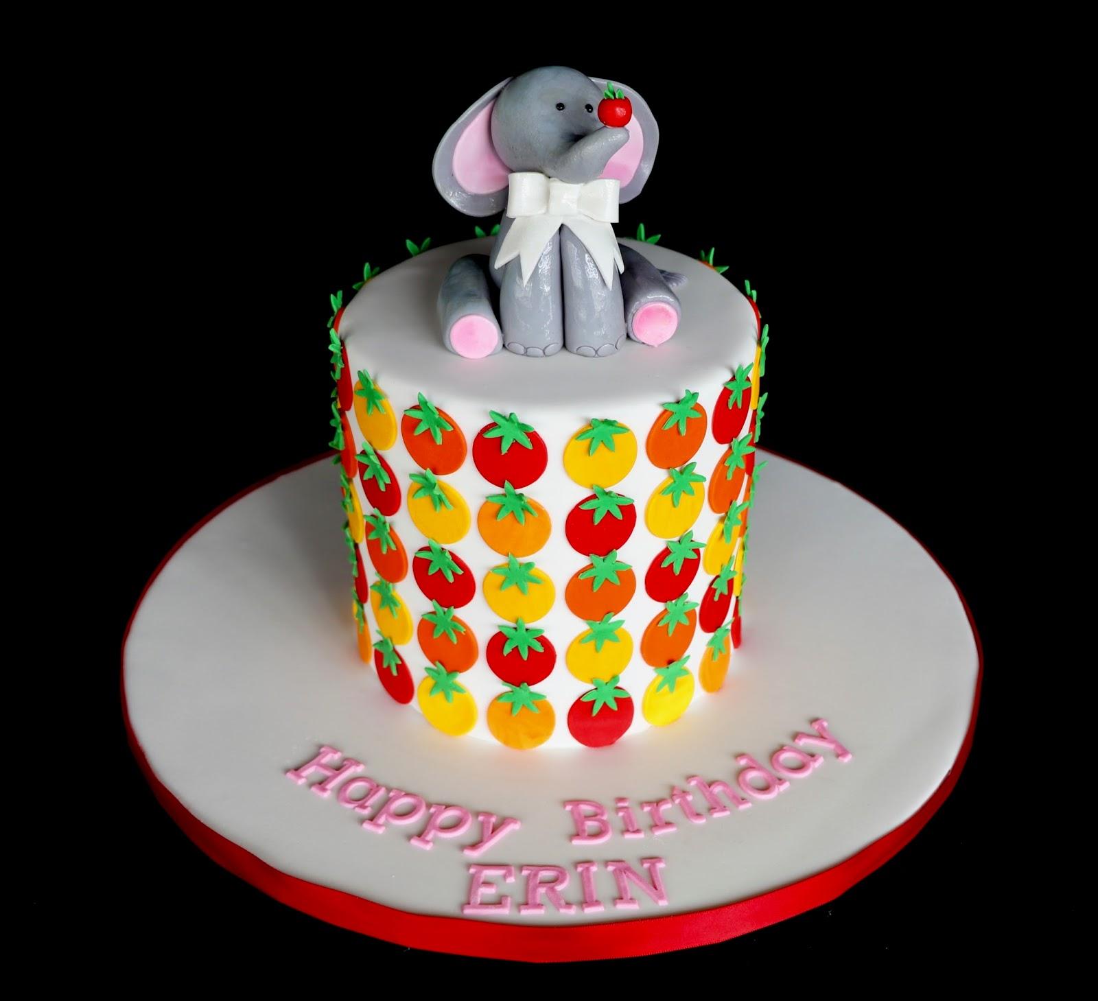 Baking Maniac 1st Birthday Cherry Tomato Cake