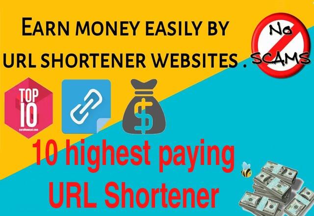 लिंक शेयर करके पैसा कैसे कमाएं. earn by link shortner websites - shortening url websites list