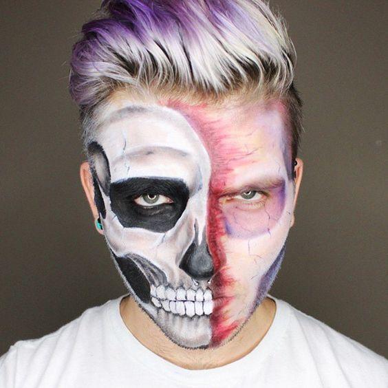 maquiagem de halloween para homem 2018 2019