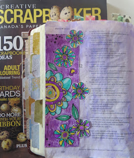 Bible Journal Page with Creative Scrapbooker Magazine and BoBunny by Lynn Shokoples