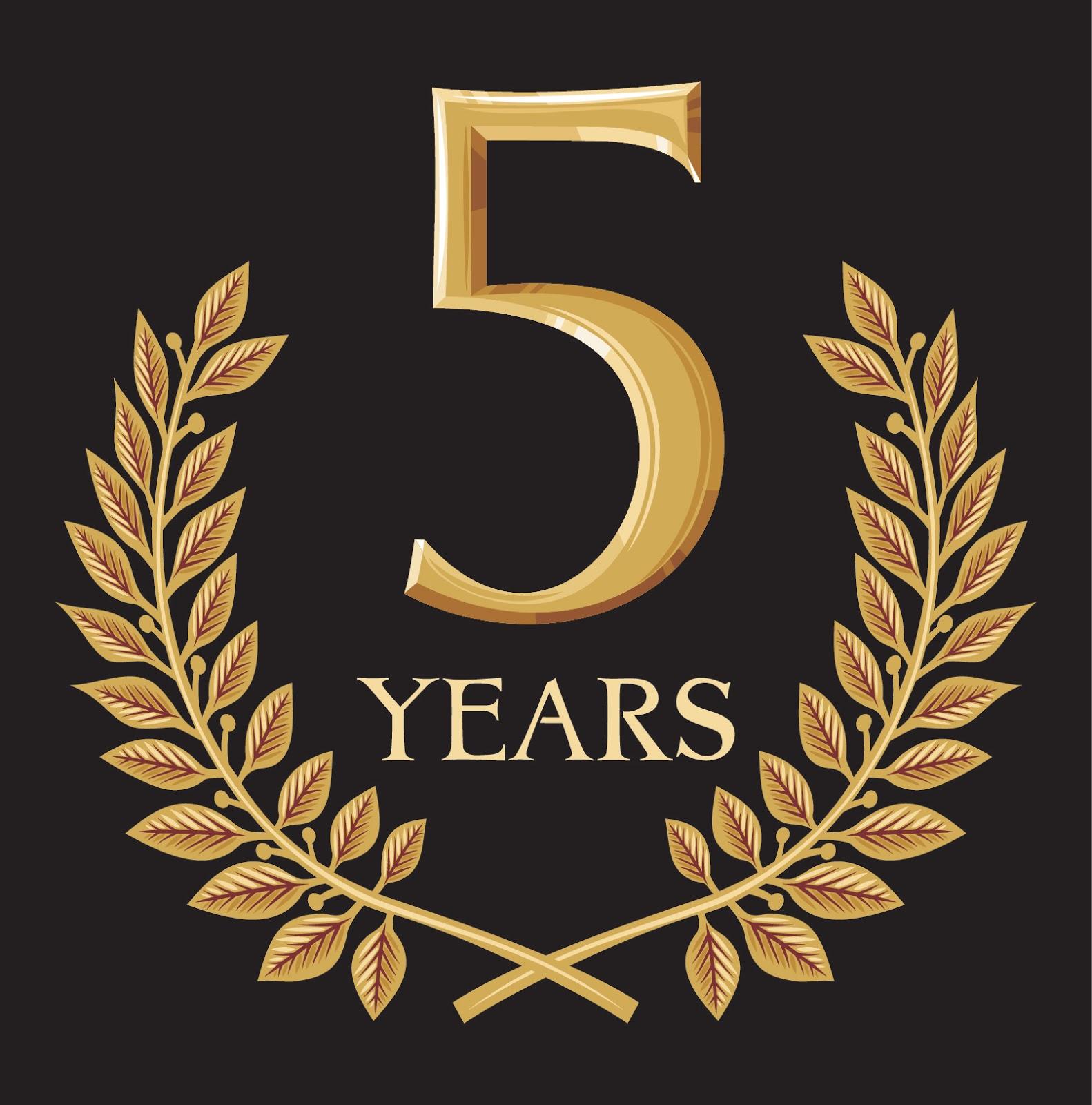 Открытка 5 лет организации