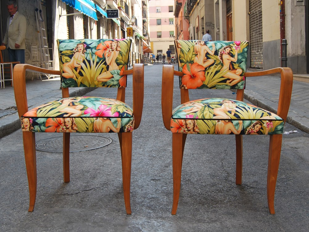 La tapicera for Sillas de tela comedor