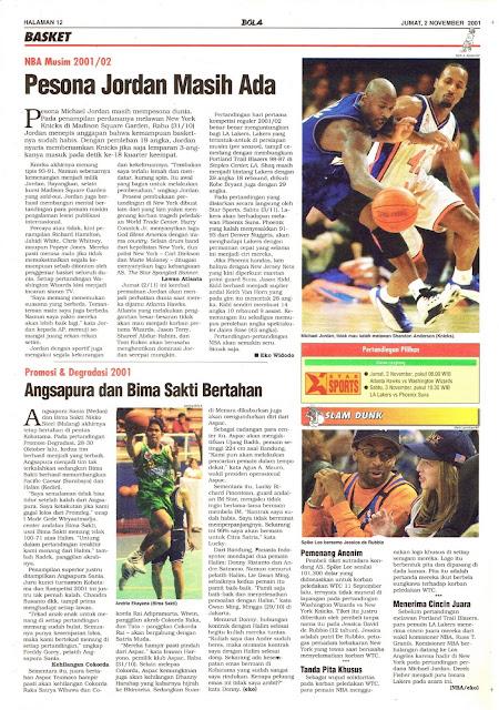 NBA MUSIM 2001/02 PESONA JORDAN MASIH ADA