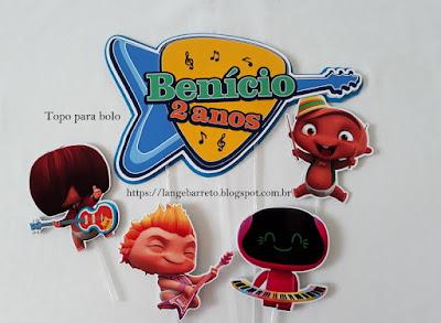 Topo para bolo Mini-beat-power-rockers