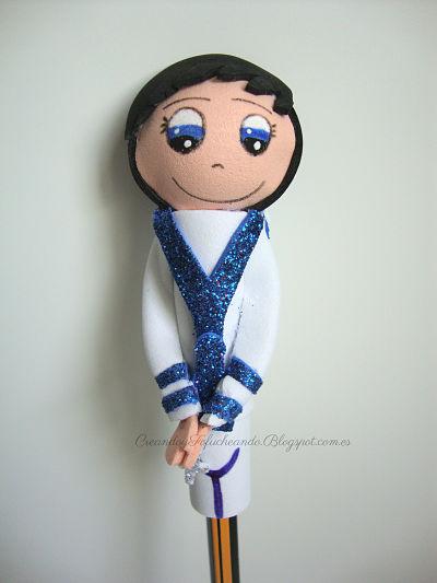 Fofulapiz niño de primera comunion vestido de marinerito