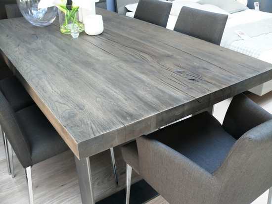 Grey Wood Kitchen Table