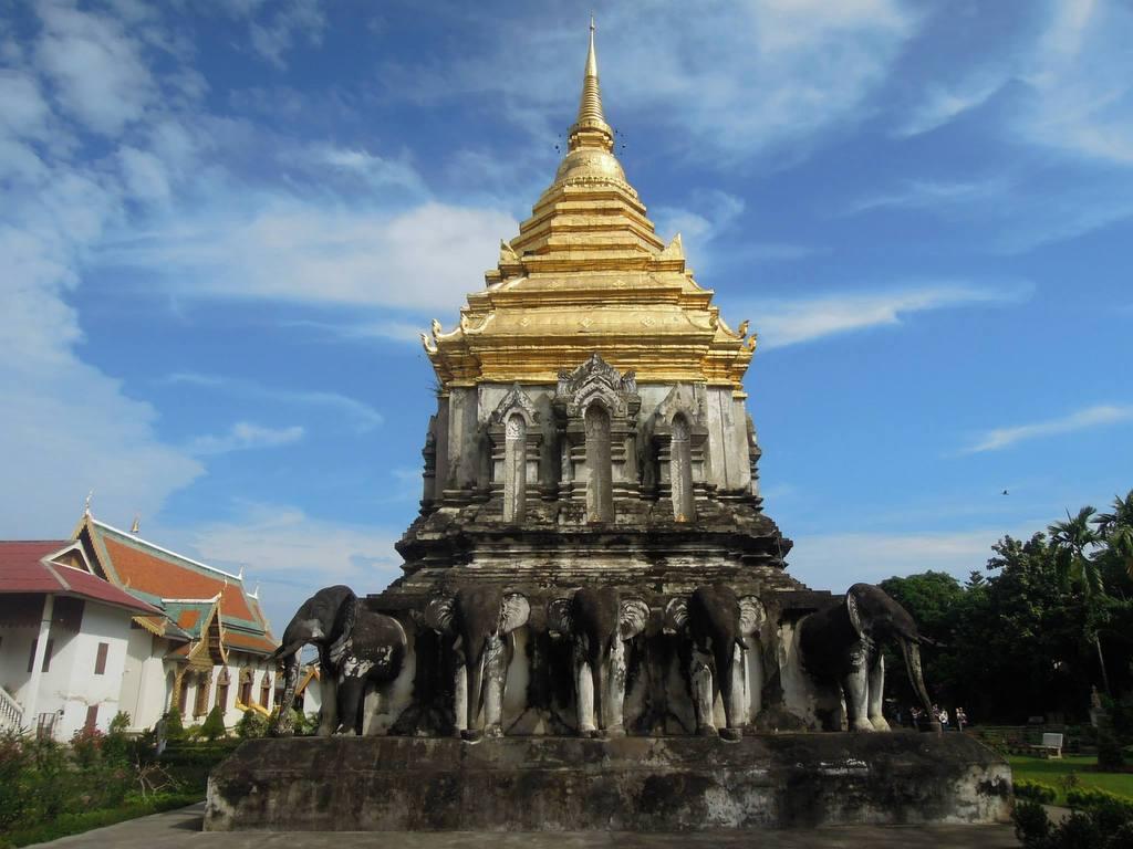 清清的世界旅行圖鑑: 泰國北部 清邁 清曼寺 (Wat Chiang Man;วัดเชียงมั่น)
