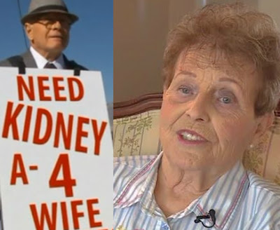 man walks kidney donors wife