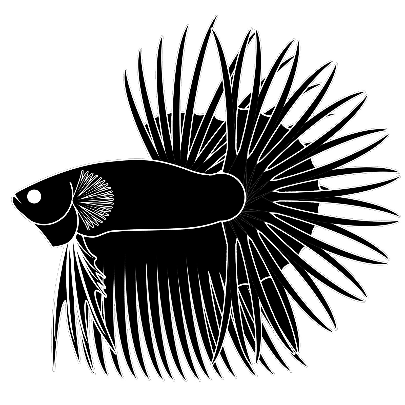 Free Base Betta Crown-Tail Logo For You All | Pecinta Ikan