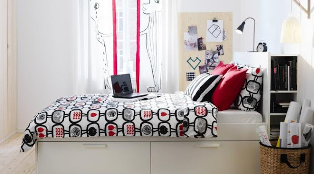 Desain Kamar Tidur Dengan Furniture dari IKEA