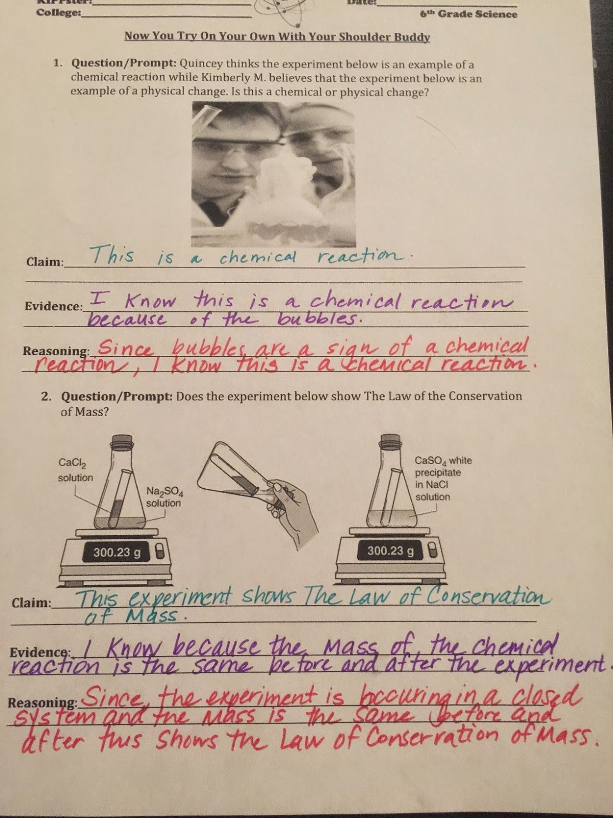 Mr Miller Courageous Scientists Unit 2 Chemistry Day 17