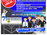 Universitas Sultan Ageng Tirtayasa Gelar Job Fair 22-23 Mei 2017