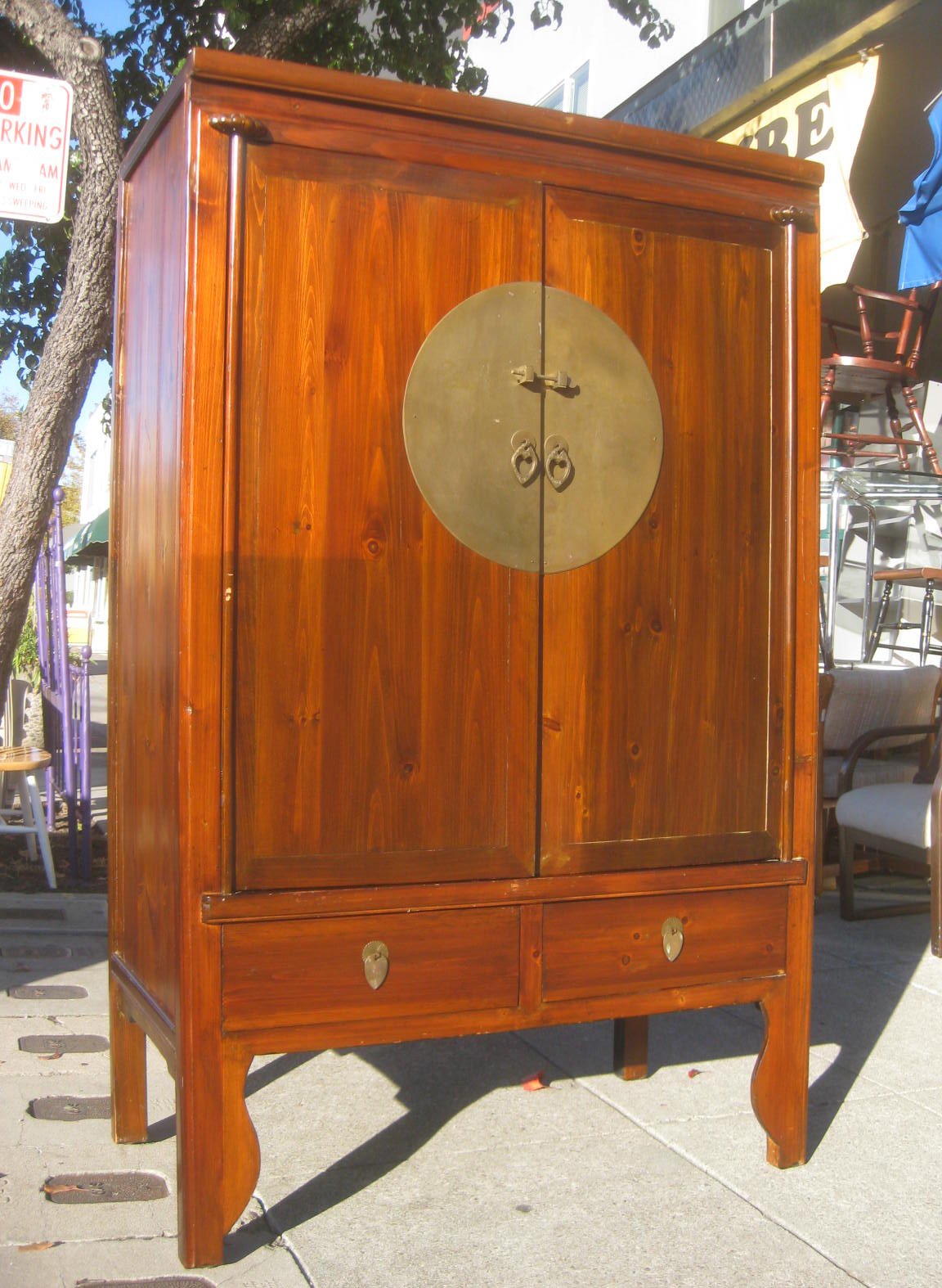 uhuru furniture collectibles sold chinese rustic armoire 180. Black Bedroom Furniture Sets. Home Design Ideas