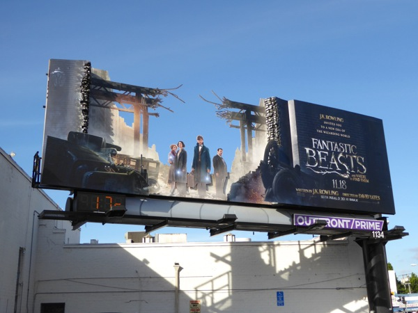Fantastic Beasts Where Find Them special installation billboard