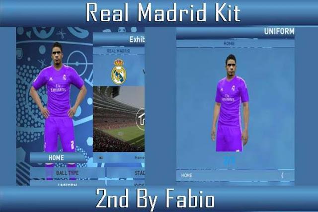 PES 2016 Real Madrid Kit Season 2016/17