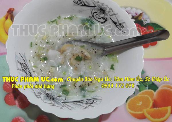 nấu món cháo bào ngư Úc bồi bổ cho trẻ nhỏ
