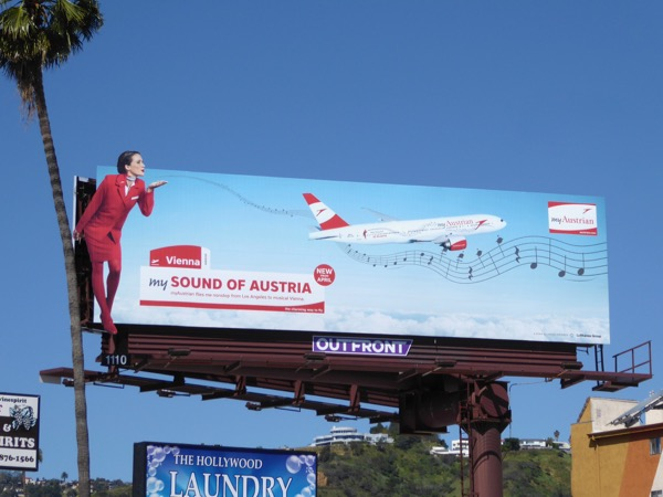 My Austrian special extension airline billboard