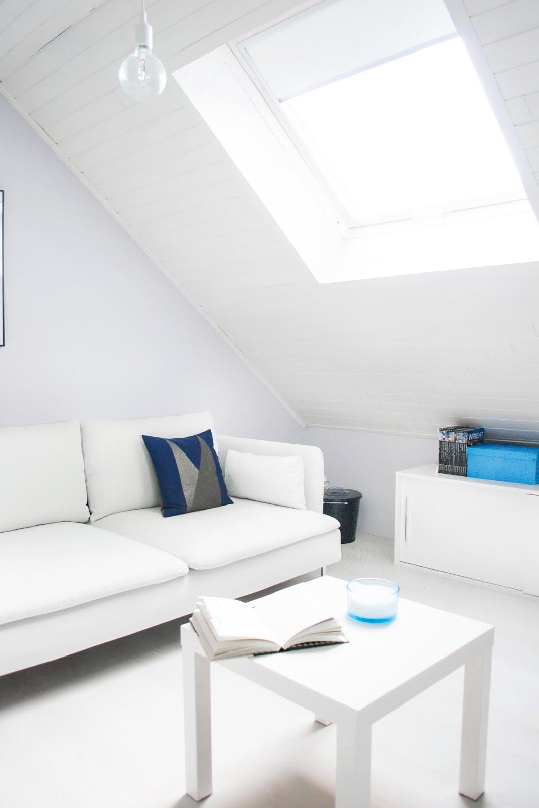 Ikea soderhamn sofa, maison popineau, ikea lack, white interior, scandinavian, interior design, velux