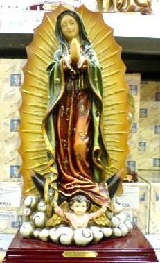 La Virgen de Guadalupe en cerámica