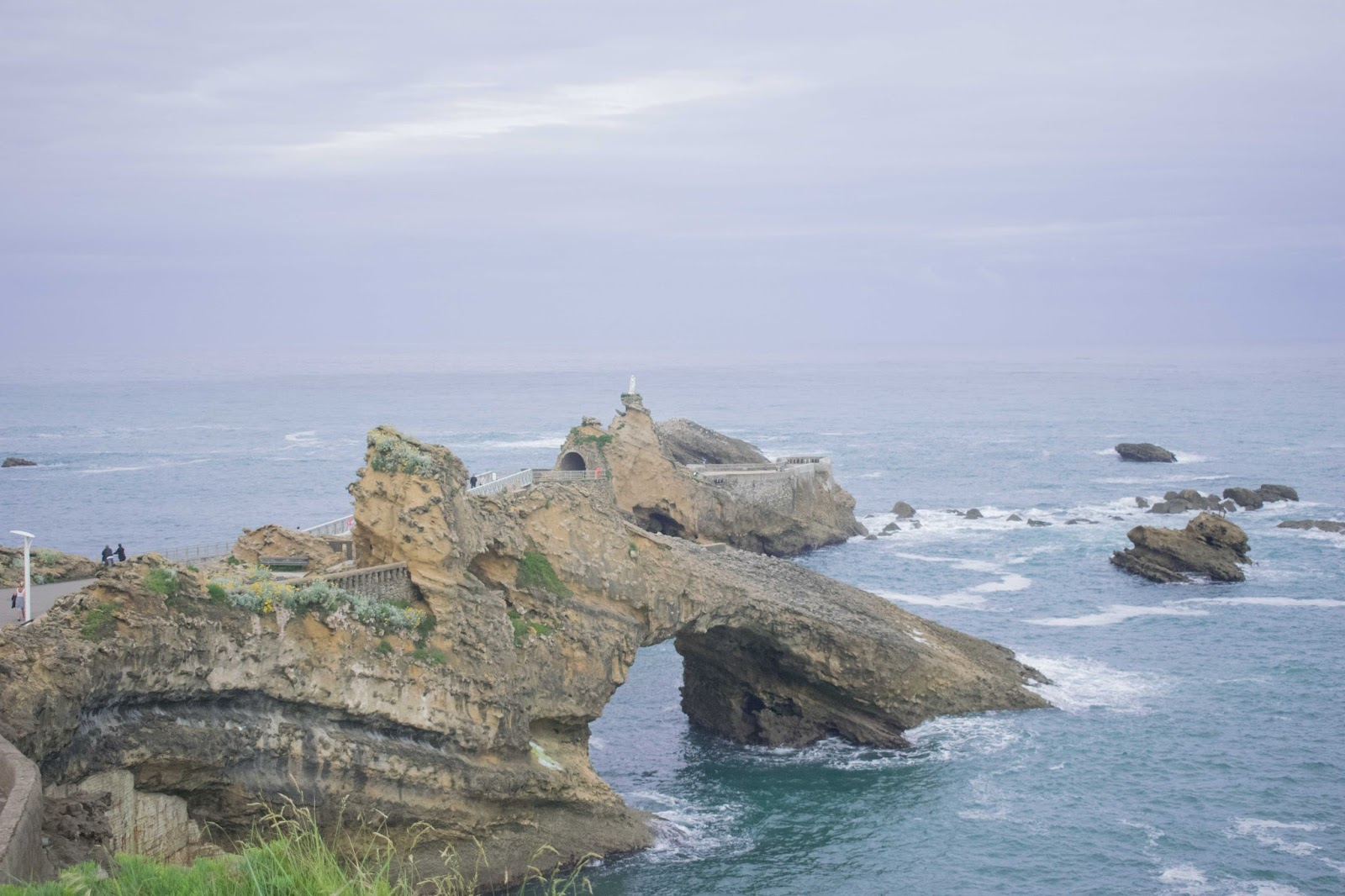 rocher, océan, vague, vierge