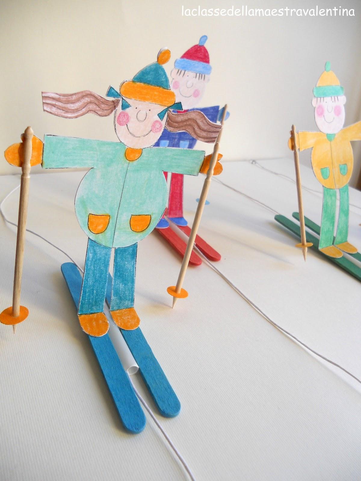 La classe della maestra valentina una gara di sci - Clipart bricolage ...
