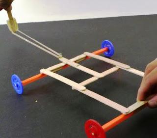 Cara Membuat Mobil Luncur + Alat Pelontar dari Stik Es Krim