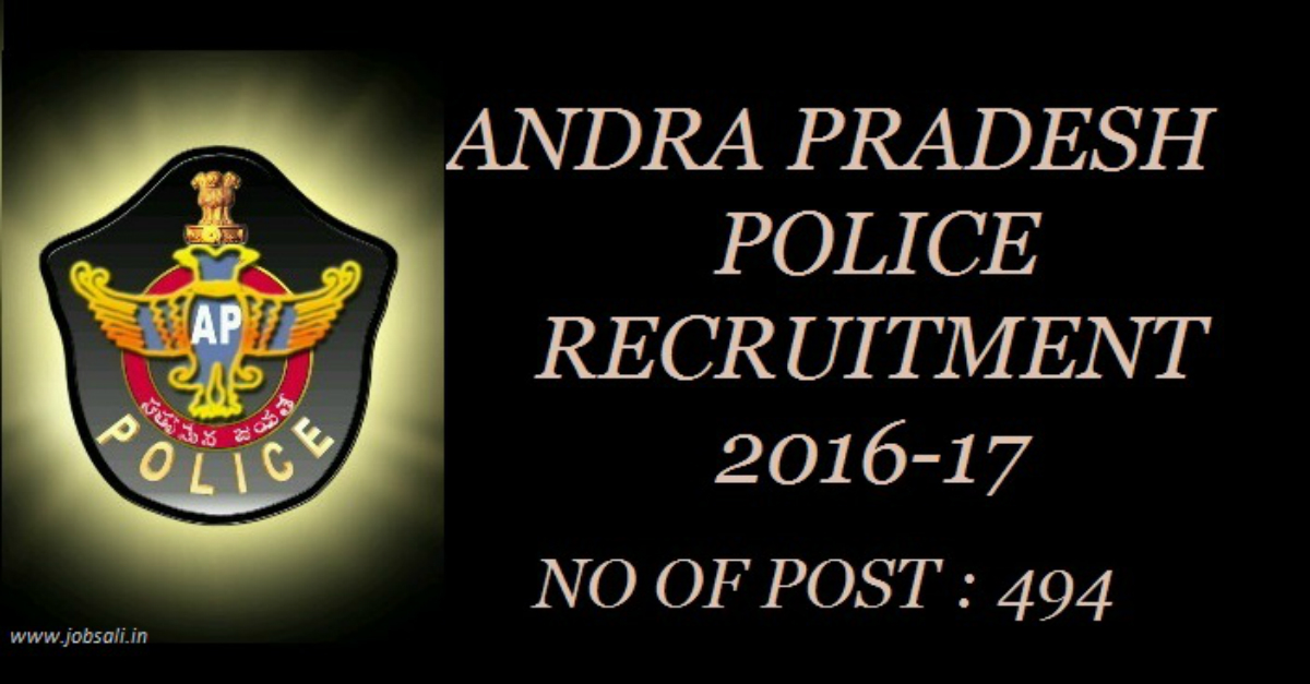 Andhra Pradesh Police Recruitment Of Police Constables 2016