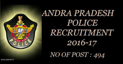 Police Jobs, A P Police, A P Police online Application