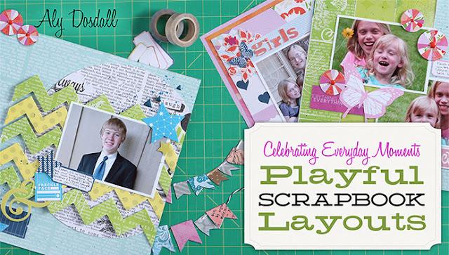 Playful Scrapbook Layouts scrapbooking workshop at Craftsy with Aly Dosdall