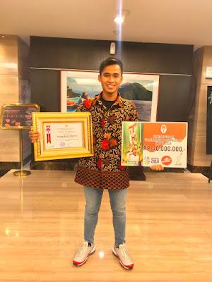 Galang Hendra Raih Penghargaan Pelaku Olahraga Berprestasi Tahun 2018