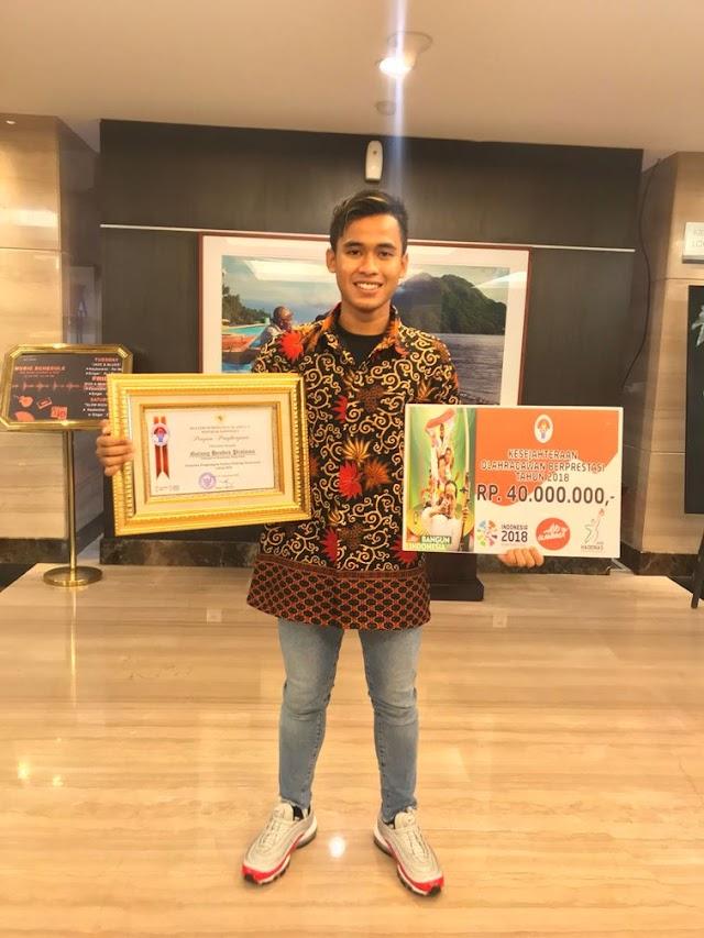 Hari Olahraga nasional, Galang Hendra Raih Penghargaan Pelaku Olahraga Berprestasi Tahun 2018