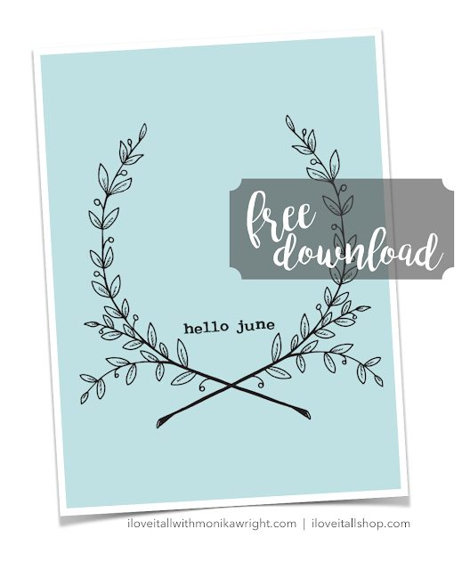 Hello June | Free Pocket Page Card