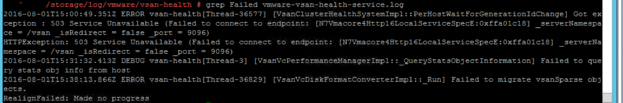 VirtualRealization: VSAN - on-disk upgrade error