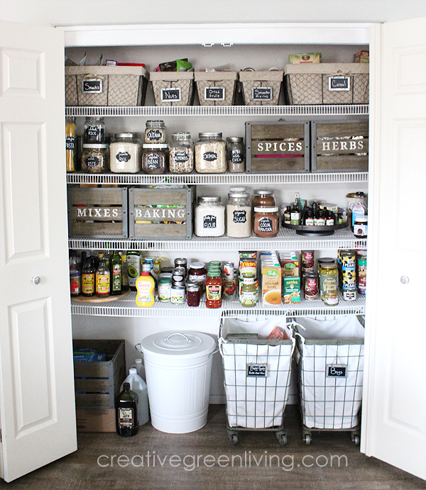 Beautiful farmhouse pantry organization ideas
