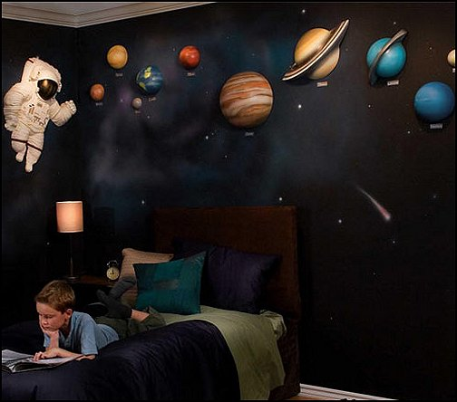 Decorating theme bedrooms maries manor celestial moon for Outer painting design
