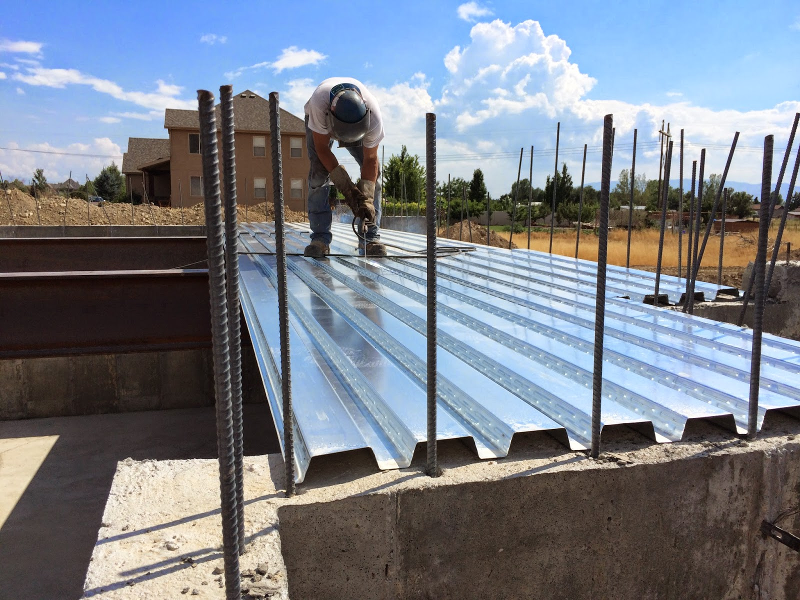 Energy Efficiency House: B-Deck and Basement Slab Complete