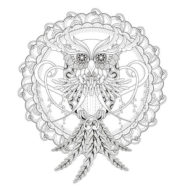 Incredible Owl Mandala Coloring Page From The Gallery  Mandalas Artist   Kchung